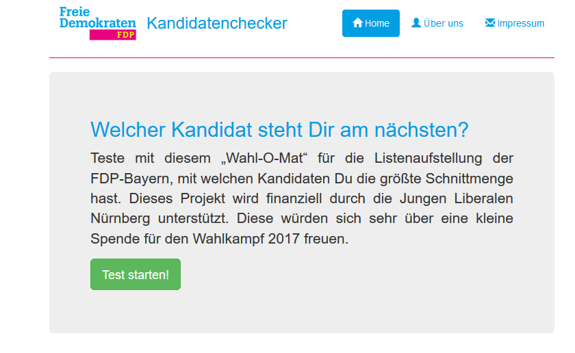 Screenshot Kandidatenchecker