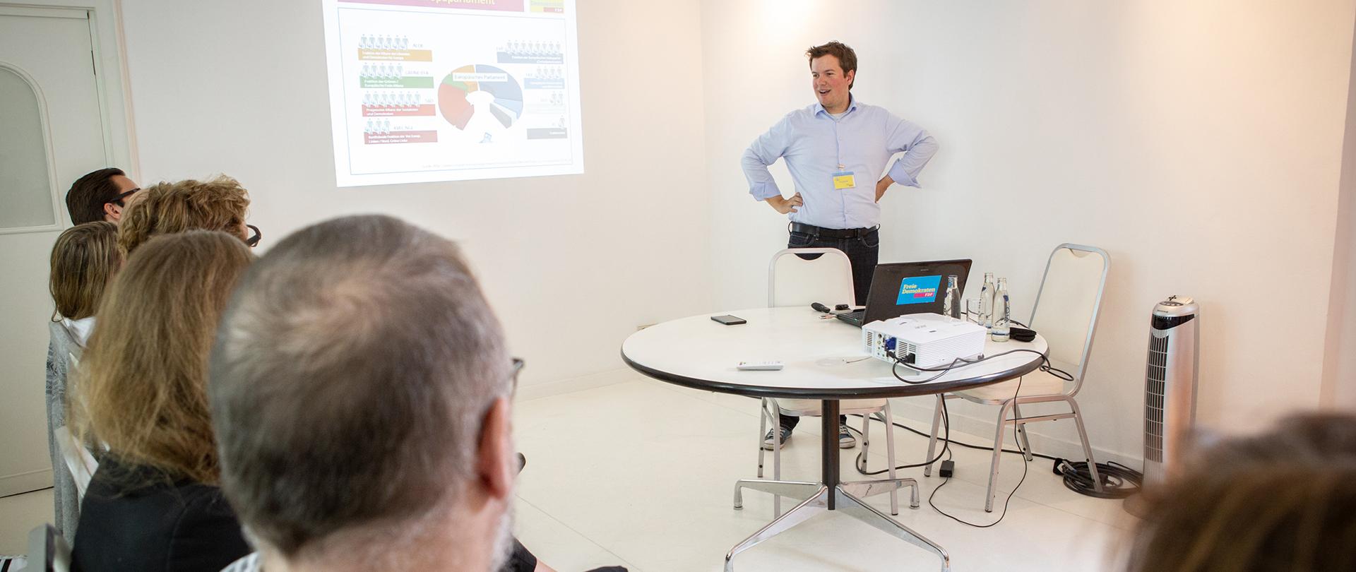 Diskussion beim Skillcamp der FDP NRW